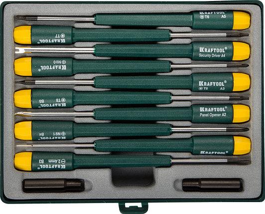 Набор отверток для точных работ и телекоммуникационного оборудования X-Telecom,KRAFTOOL, 12 предм. (25616-H12), фото 2
