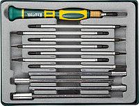 Отвёртка для точных работ со сменными стержнями и головками X-Turbo, KRAFTOOL, 12 предметов (25611-H12)