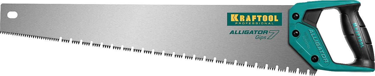 Ножовка для гипса Alligator GIPS, KRAFTOOL, 7 TPI, 550 мм (15210)