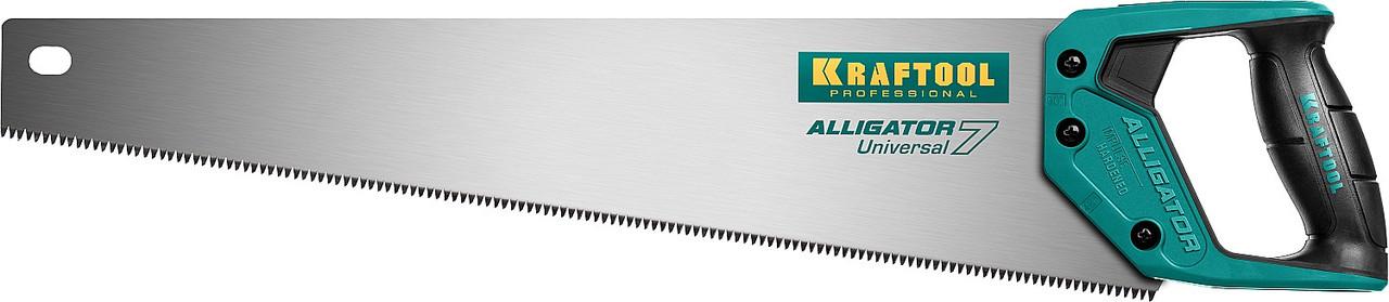 Ножовка универсальная Alligator 7, KRAFTOOL, 7 TPI, 500 мм (15004-50_z01)
