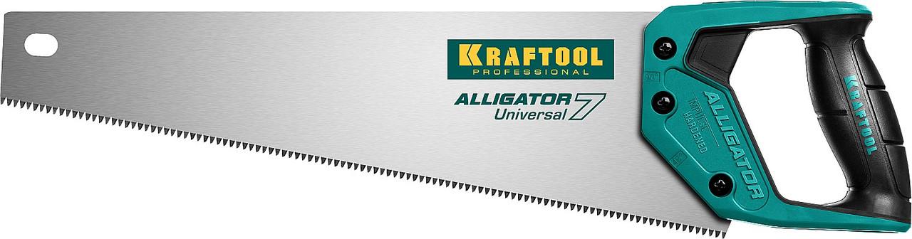 Ножовка универсальная Alligator 7, KRAFTOOL, 7 TPI, 400 мм (15004-40_z01)
