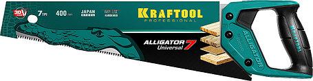 Ножовка универсальная Alligator 7, KRAFTOOL, 7 TPI, 400 мм (15004-40_z01), фото 2