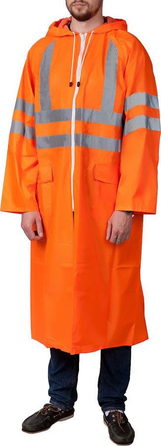 """Плащ-дождевик ЗУБР, 56-58, размер оранжевый, светоотражающие полосы, серия """"Профессионал"""" (11617-56)"""
