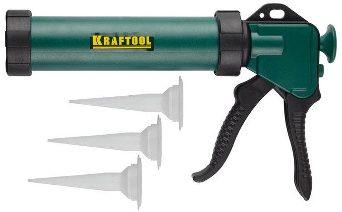 Пистолет для герметика KRAFTOOL, 320 мл, закрытый (06677_z01), фото 2