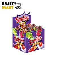 Карамель с жевательной конфетой на палочке Страйк ассорти 11.3г/50шт