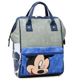 Рюкзак для мамы с Микки, цвет голубой