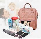 Рюкзак для мамы с Микки, цвет голубой, фото 7