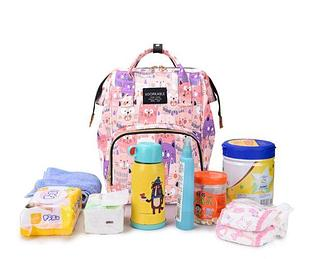 Рюкзак для мамы с кошками, цвет розовый