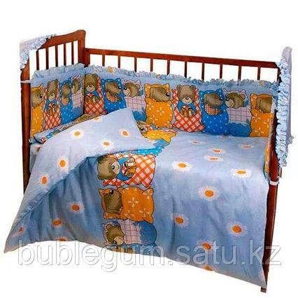 Комплект в кроватку без балдахина 6 предметов Патрино «1001» в ассортименте
