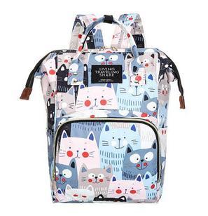 Рюкзак для мамы с кошками, цвет голубой