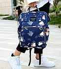 Рюкзак для мамы с кошками, цвет темно-синий, фото 2