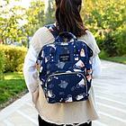 Рюкзак для мамы с кошками, цвет темно-синий, фото 4