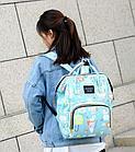 Рюкзак для мамы с мышками, цвет свето-голубой, фото 2