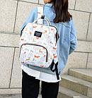 Рюкзак для мамы с мышками, цвет свето-голубой, фото 4