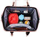Рюкзак для мамы с цветами, цвет коричневый, фото 2