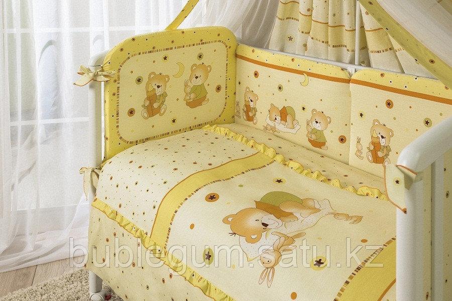 """Комплект постельного белья 7 предметов Perina Ника """"Мишка на подушке"""""""