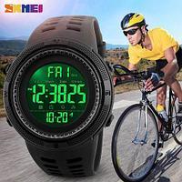 Часы наручные SKMEI 1251 Black водонепроницаемые с EL Shinner подсветкой