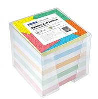 Блок для записей OfficeSpace цветной в подставке 9х9х9 см