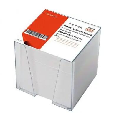 Блок для записей KUVERT в подставке белый 9х9х9 см