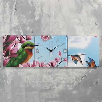 Часы настенные модульные «Колибри», 35 × 110 см