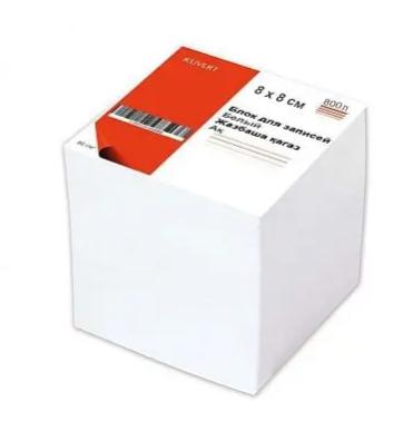 Блок для записей KUVERT  белый 8х8х8 см