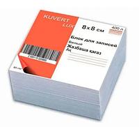 Блок для записей KUVERT  белый 8х8х5 см