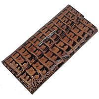 Портмоне, 2 отдела для купюр, для монет, для кредитных карт, цвет коричневый