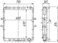 64229-1301010 Радиатоp МАЗ 4-рядный (64229Б.1301010)