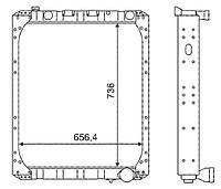 642290-1301010-011 Радиатор МАЗ с двиг. ЯМЗ-238ДЕ2 3-х рядный