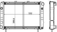 3110-1301010-61 Радиатор ГАЗ-3110 2-рядный купробрейз