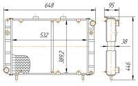 3110-1301010-61/01 Радиатор ГАЗ-3110,31105 2-рядный (1501.1301010)