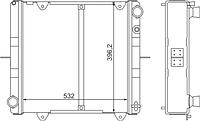 330242-1301010-01 Радиатор ГАЗель н/о с отв. под.датчик