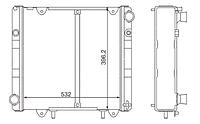 330242-1301010-61 Радиатор Газель с двиг. УМЗ-4063 Евро2