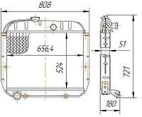 130-1301010 Радиатор ЗИЛ-130 4-рядный (14.1301010-50)