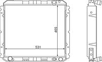 432720-1301010-11 Радиатор ЗИЛ-5301 2-рядный