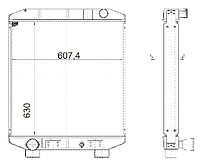 4238-1301010 Радиатор КАВЗ 3-рядн. купробрейз