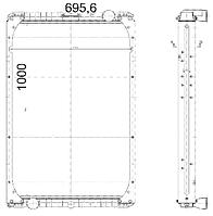5460Ш-1301010 Радиатор КАМАЗ-5460 3-х рядный купробрейз
