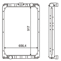 63501Ш-1301010 Радиатор КАМАЗ-6350 3-х рядный купробрейз
