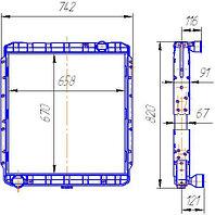 54115-1301010 Радиатор КАМАЗ-65115 4-рядный (146.1301010-50)
