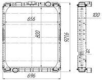 65115Б-1301010 Радиатор КАМАЗ-65115 Евро-3 3-х рядный