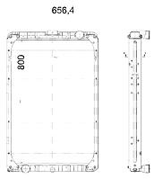 65115Ш-1301010-21К Радиатор КАМАЗ-65115 Евро-3 3-х рядный купробрейз
