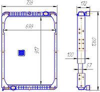 6520-1301010-01 Радиатор КАМАЗ-6520 3-х рядный (147.1301010)