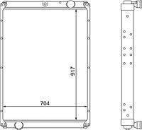 6520-1301010-01 Радиатор КАМАЗ-6520 3-х рядный