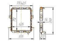 6437-1301010 Радиатор КРАЗ 3-рядный (14.6437.1301010)