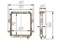 65055-1301010-01 Радиатор КРАЗ-65055 3-рядный (14.65055.1301010)