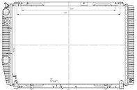 31631А-1301010 Радиатор УАЗ 2-рядный алюм. по технологии Nocolok