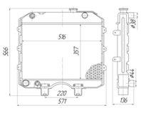 3160-1301006-10 Радиатор УАЗ-3160 с двиг. ЗМЗ- 514 (3160Б.1301010-10)