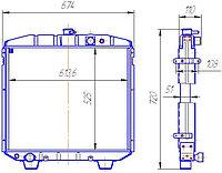 3205-1301010-01 Радиатор ПАЗ дизельн. 3-рядный (149.1301010-02)