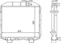 3205-1301010-01 Радиатор ПАЗ дизельный 3-рядный