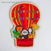Пазл - вкладыш в рамке «Воздушный шар с животными» 31×21 см